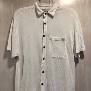 Urban Outfitters Button Up Boxy Shirt Ivory